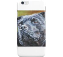 Staffordshire Bull Terrier Fine Art Painting iPhone Case/Skin