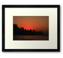 Dusk at Victoria Harbour, Hong Kong Framed Print