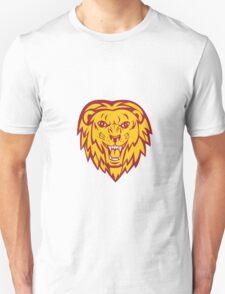 Angry Lion Big Cat Head Roar T-Shirt