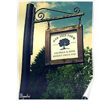Oak Tree Farm Poster