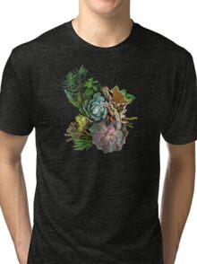 Succulent garden display Tri-blend T-Shirt