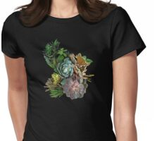 Succulent garden display Womens Fitted T-Shirt