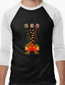 Pixel Drop Mario Men's Baseball ¾ T-Shirt