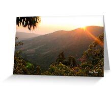 """""""MAGOEBASKLOOF SUNSET"""" - Wolkberg mountains Greeting Card"""