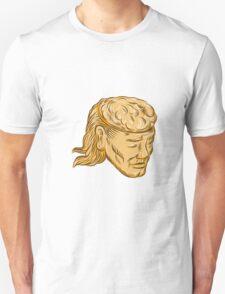 Man Open Head Brain Etching T-Shirt