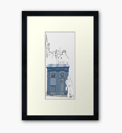 Edinburgh Tardis Framed Print