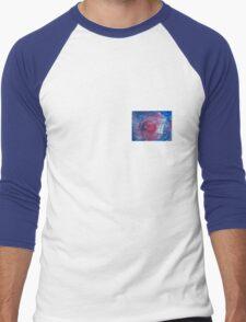 TARDIS in watercolour 01 Men's Baseball ¾ T-Shirt