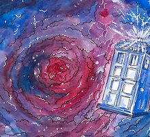 TARDIS in watercolour 01 by Susanna Olmi