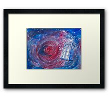 TARDIS in watercolour 01 Framed Print