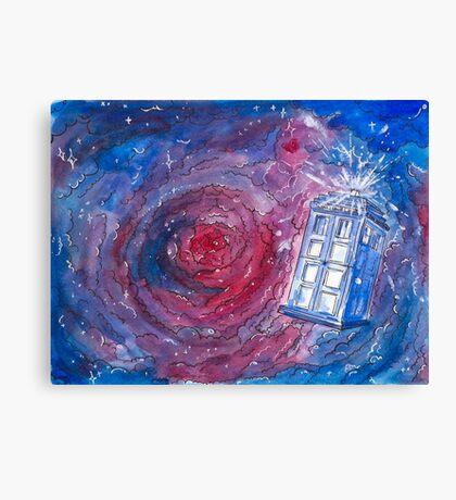 TARDIS in watercolour 01 Canvas Print