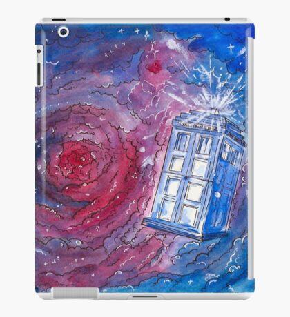 TARDIS in watercolour 01 iPad Case/Skin