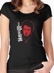 Sid Vicious Destroyed Women's Fitted Scoop T-Shirt