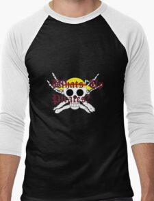 One Piece Straw Hat Whats Up Pirates Luffy Men's Baseball ¾ T-Shirt