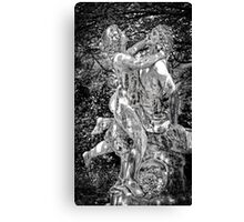 The Lovers in Black & White Canvas Print