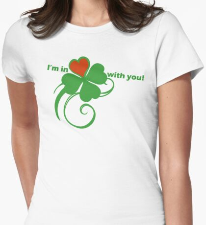 I'm in love with you! Womens Fitted T-Shirt
