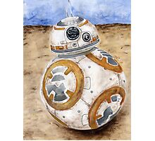 BB8 Star Wars The Force Awakens Droid  Photographic Print