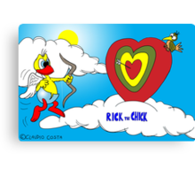"Rick the chick ""VALENTINE'S CHICK"" Canvas Print"