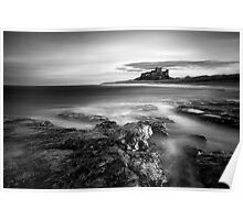 Bamburgh at High Tide Poster