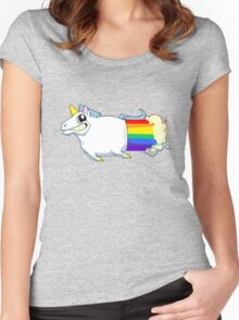 Unicorn Farts Women's Fitted Scoop T-Shirt