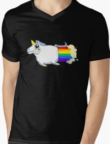 Unicorn Farts Mens V-Neck T-Shirt