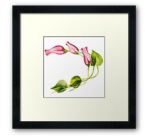 Watercolor Flower Framed Print