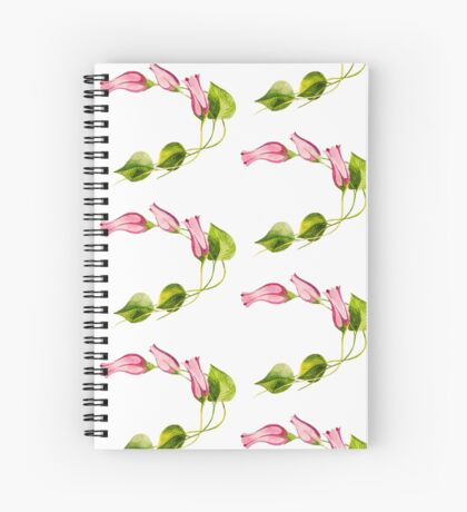 Watercolor Flower Spiral Notebook