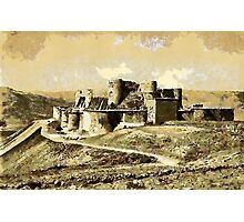 Krak des Chevaliers & Monastery of St. George, Talkalakh, Syria Photographic Print