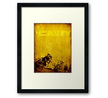 Inherent Beauty in Decay Framed Print