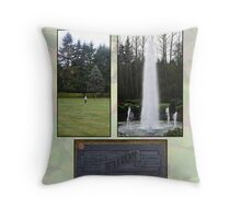 paying respects Throw Pillow