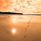 ballybunion scenic red sunrise by morrbyte