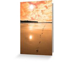 ballybunion scenic red sunrise Greeting Card