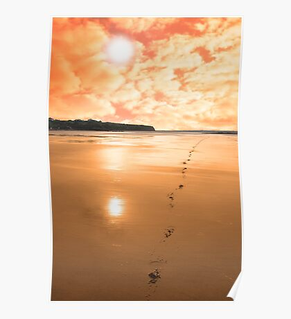 ballybunion scenic red sunrise Poster