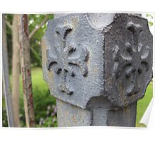 Old Iron Fence Post - North Carolina Poster