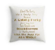 Gatsby Party - Gold and White Throw Pillow