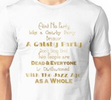 Gatsby Party - Gold and White Unisex T-Shirt