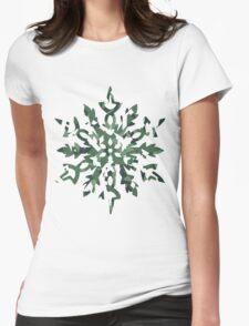 The Melting Snowflake – Dizzy Green Womens Fitted T-Shirt