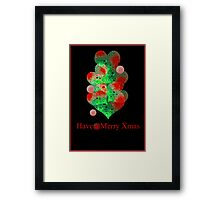 the christmas ball tree Framed Print