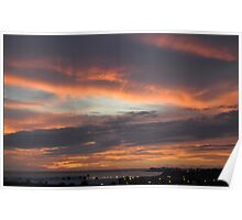 Sunset in Playa Blanca  Lanzarote Canary Island Poster