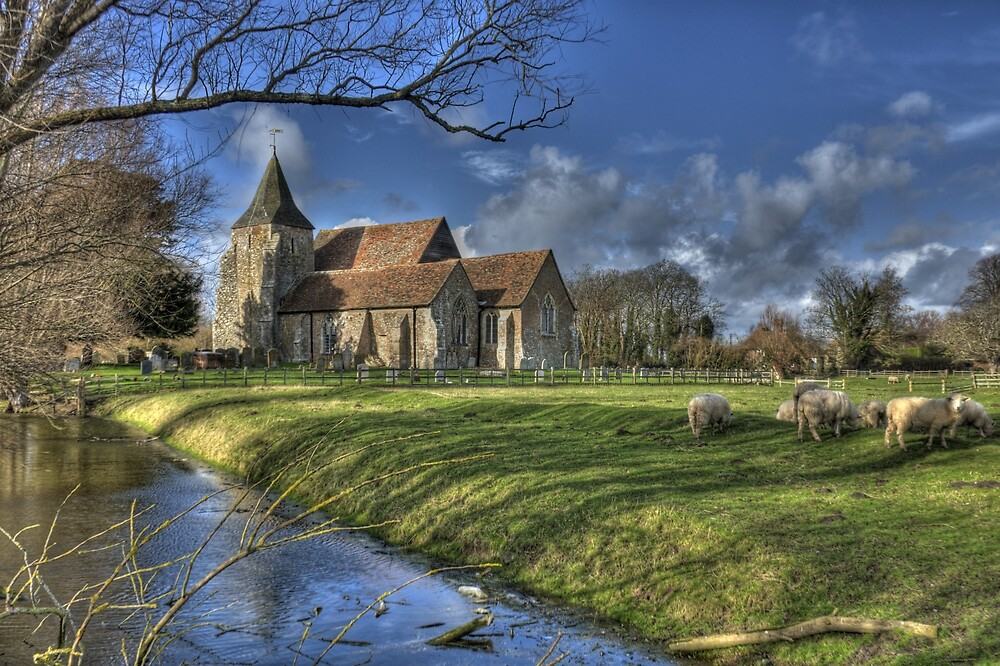 St Clements,Old Romney with Sheep by brianfuller75