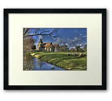 St Clements,Old Romney with Sheep Framed Print