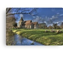 St Clements,Old Romney with Sheep Canvas Print