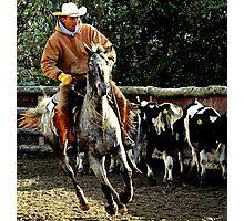 The roundup rider Photographic Print