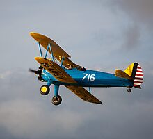 PT13-D Stearman biplane 7 by Tony Roddam