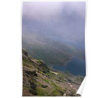 Snowdon mountain trail Poster