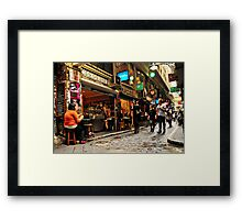 Being cool in Centre Place Framed Print