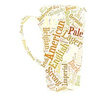 Beer Word Cloud Photographic Print