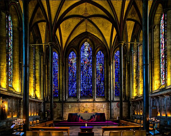 Trinity Chapel in Salisbury Cathedral by Chris Lord