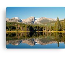 Mirror reflections on Sprague Lake Canvas Print