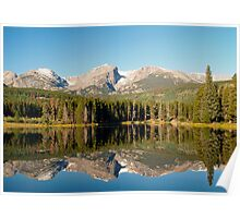Mirror reflections on Sprague Lake Poster