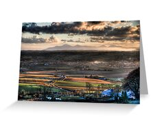 View of the Mourne Mountains From Scrabo. Greeting Card